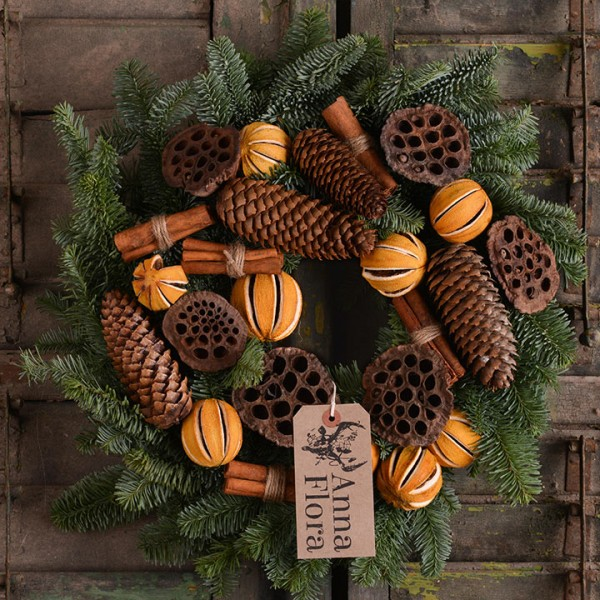orange cinnamon wreath