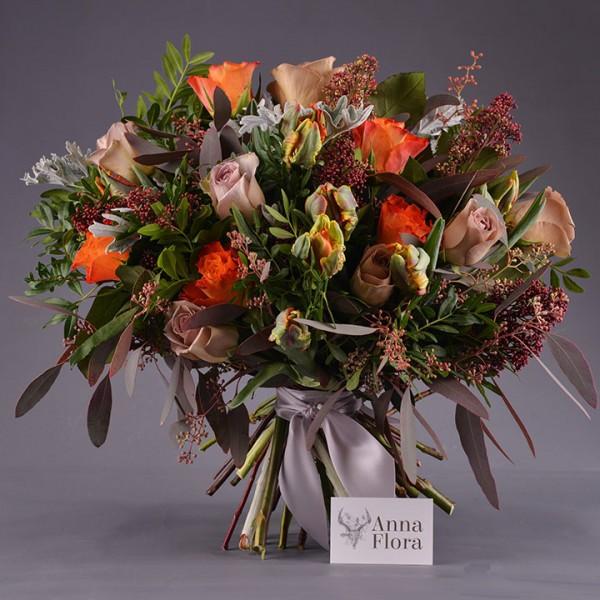 winter fire bouquet