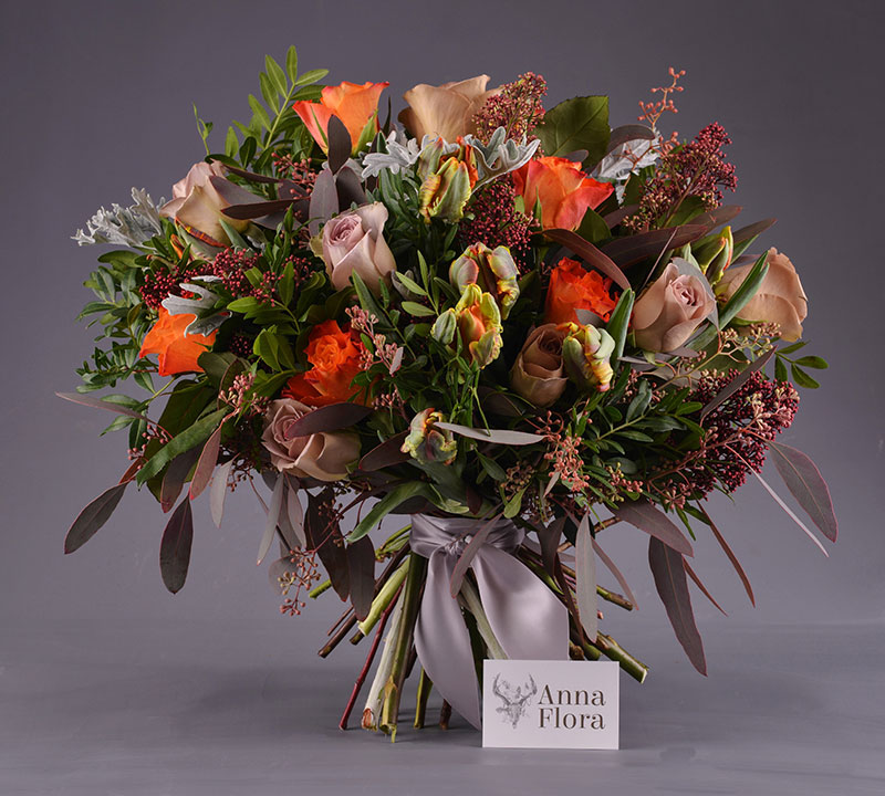 winter fire bouquet